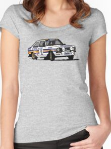 Fortitude's Ford Escort Mark 2 BDA Cosworth Women's Fitted Scoop T-Shirt