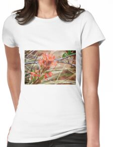 Red Desert Wildflowers Womens Fitted T-Shirt