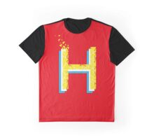 H for Helvetica Red Yellow and Light blue Type for 36 days of type Graphic T-Shirt
