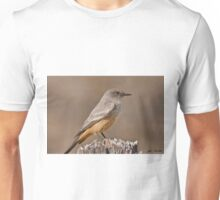 Say's Phoebe on a Fence Post Unisex T-Shirt
