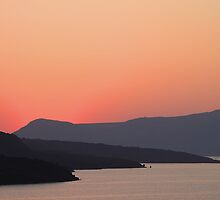 Sunset at Santorini by Carole-Anne