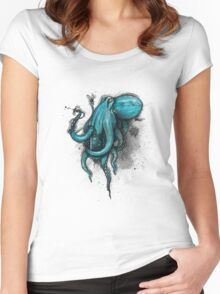 Transfusion Shirt (Light Background) Women's Fitted Scoop T-Shirt
