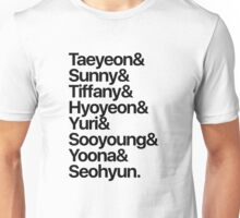 Girls' Generation (OT8-black text) Unisex T-Shirt