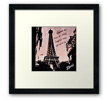 Travel to Paris Framed Print