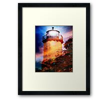 Mc Gulpin Lighthouse - Lake Michigan - Photograph Framed Print