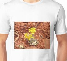Yellow Flowers in Red Clay Soil Unisex T-Shirt