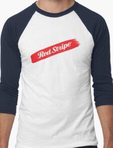 Red Stripe Jamaican  Men's Baseball ¾ T-Shirt