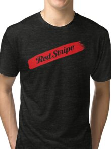 Red Stripe Jamaican  Tri-blend T-Shirt