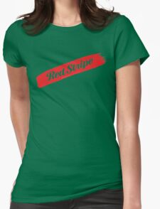 Red Stripe Jamaican  Womens Fitted T-Shirt