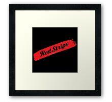 Red Stripe Jamaican  Framed Print