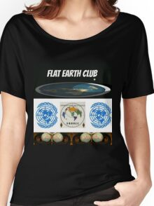 flat earth club Women's Relaxed Fit T-Shirt