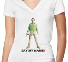 Walter White Heisenberg - Breaking Bad Women's Fitted V-Neck T-Shirt