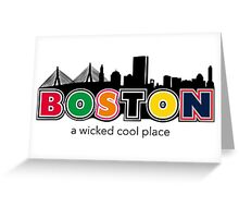 Wicked Boston Greeting Card