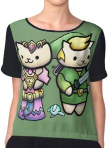 Game Kitties Chiffon Top