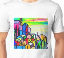 Rainbow Houses Unisex T-Shirt
