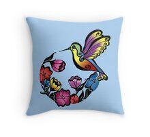 Hummingbird Bloom Throw Pillow