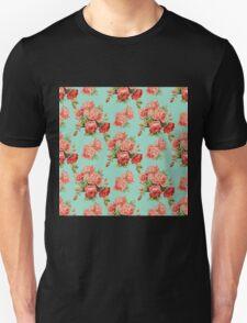 Vintage Rose Flower Pattern Unisex T-Shirt