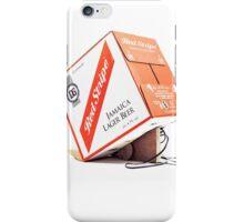 Red Stripe Trapped Box iPhone Case/Skin