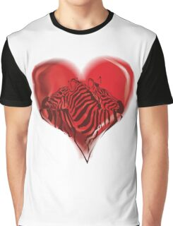 Zebras in Love Graphic T-Shirt