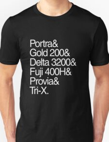 Helvetica Film Stock White T-Shirt