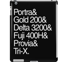 Helvetica Film Stock White iPad Case/Skin
