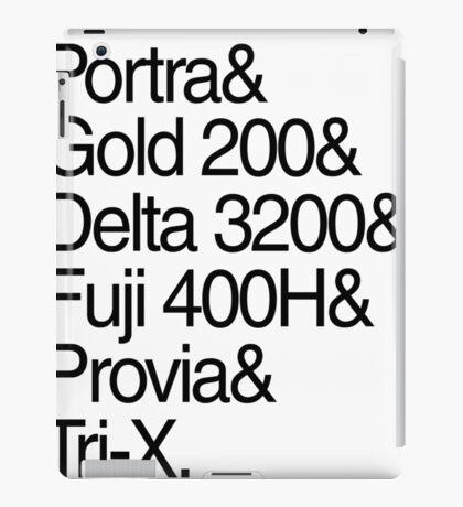 Helvetica Film Stock iPad Case/Skin