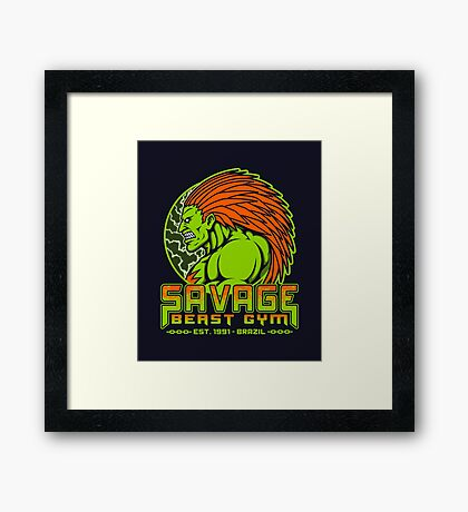Savage Beast Gym Framed Print
