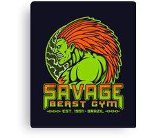 Savage Beast Gym Canvas Print