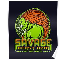Savage Beast Gym Poster