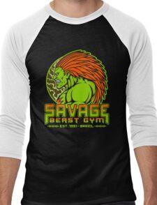 Savage Beast Gym Men's Baseball ¾ T-Shirt
