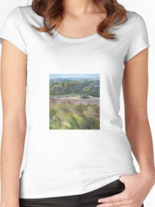Tidal River Bridge Women's Fitted Scoop T-Shirt