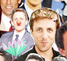 Seth Meyers collage Sticker