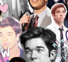 John Mulaney collage Sticker