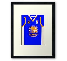steph curry withthe shot boy Framed Print