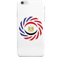 Egyptian American Multinational Patriot Flag Series iPhone Case/Skin