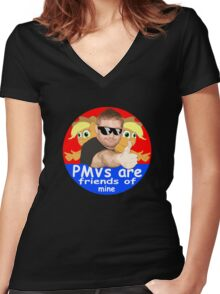 PMVs are Friends Of Mine Women's Fitted V-Neck T-Shirt