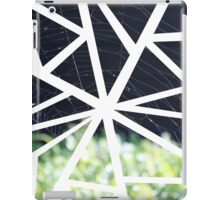 Abstract Geometric Spider Web Collage iPad Case/Skin