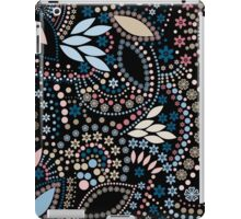Seamless pattern modern texture abstract background with beads textile black, blue, retro iPad Case/Skin
