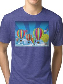 Air Balloons in the Sky 2 Tri-blend T-Shirt