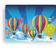 Air Balloons in the Sky 2 Canvas Print