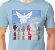 Hands Behind a Barbed Wire 5 Unisex T-Shirt