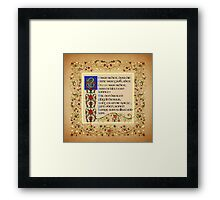 The Urn was tall no doubt German version Framed Print