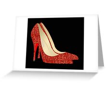 Oz ruby slippers Greeting Card