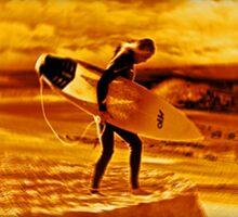 The surfer  Sticker