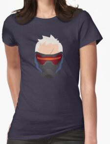 Minimalist Soldier 76 Womens Fitted T-Shirt