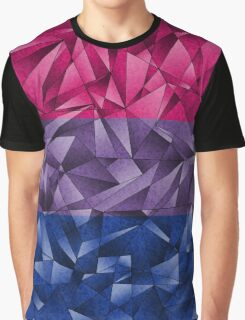 Abstract Bisexual Flag Graphic T-Shirt