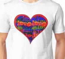 Love Love Heart Sunfire Unisex T-Shirt