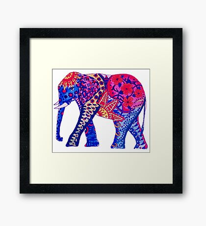 Colorful Elephant Framed Print