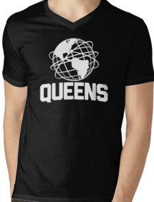 Queens NYC Unisphere Mens V-Neck T-Shirt