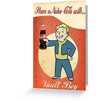Nuka Cola Poster Greeting Card